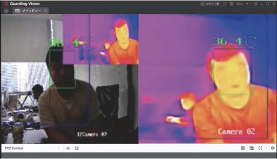 サーマルカメラモニターイメージ